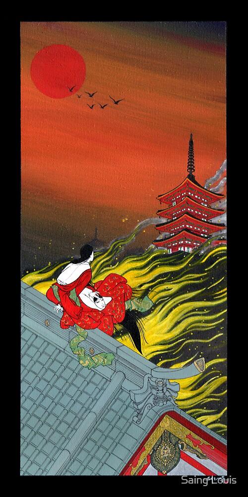 Japanese Woman - Flame by Saing Louis