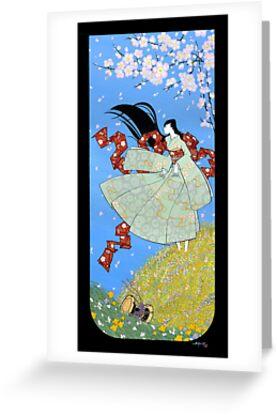 Japanese Woman - Spring by Saing Louis