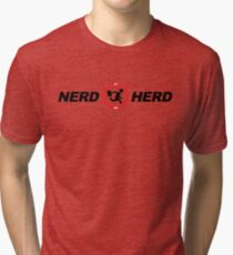 Nerd Herd Logo Chuck Buy More Tri-blend T-Shirt