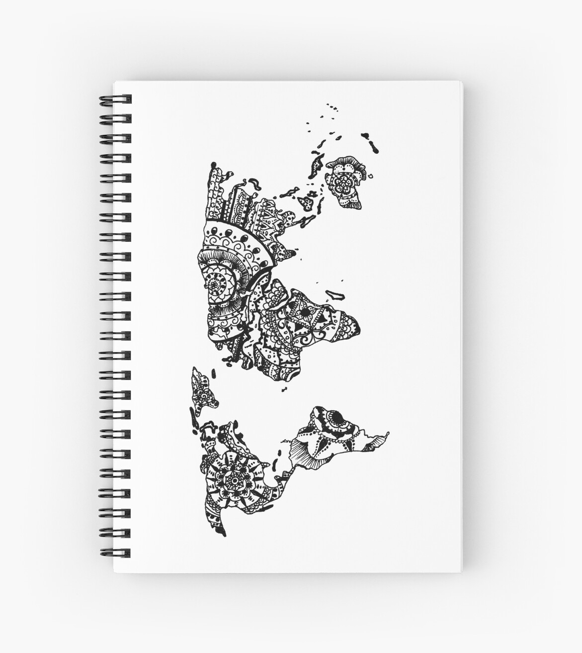 World map mandala spiral notebooks by inklingsbyellie redbubble world map mandala by inklingsbyellie gumiabroncs Images