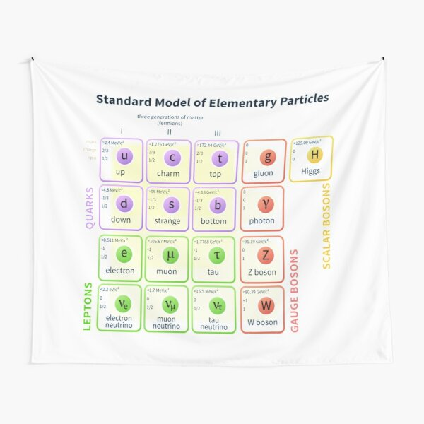 #Standard #Model Of #Elementary #Particles Tapestry