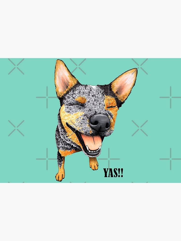 Australian Cattle Dog, Blue Heeler YAS, by Artwork by AK by artworkbyak