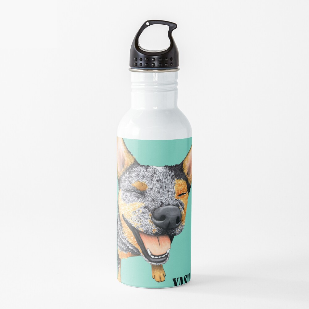Australian Cattle Dog, Blue Heeler YAS, by Artwork by AK Water Bottle