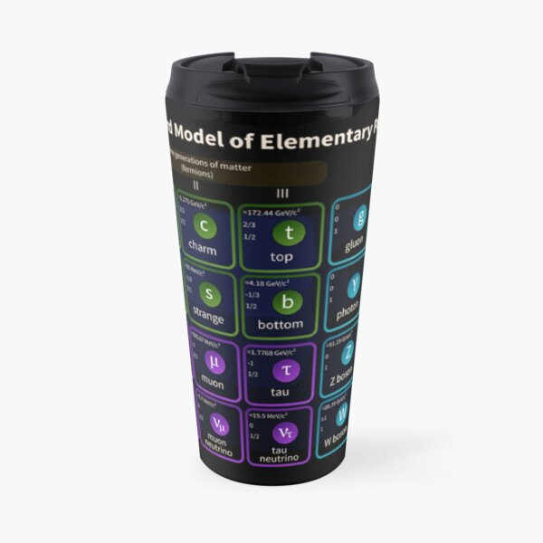 Standard Model Of Elementary Particles #Quarks #Leptons #GaugeBosons #ScalarBosons Bosons Travel Mug