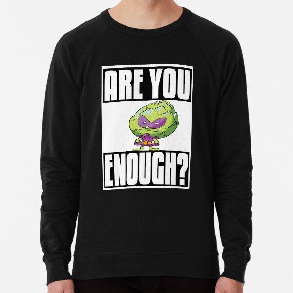 Artichoke Alien Are You Brave Enough? Foodietoon Superhero Planet 9 Lightweight Sweatshirt