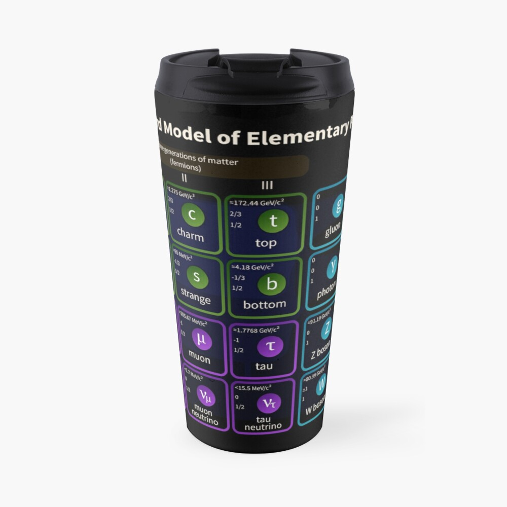 Standard Model Of Elementary Particles #Quarks #Leptons #GaugeBosons #ScalarBosons Bosons: Travel Mug
