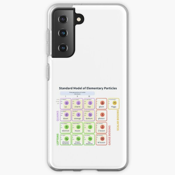 Standard Model Of Elementary Particles  #Quarks #Leptons #GaugeBosons #ScalarBosons Bosons Samsung Galaxy Soft Case