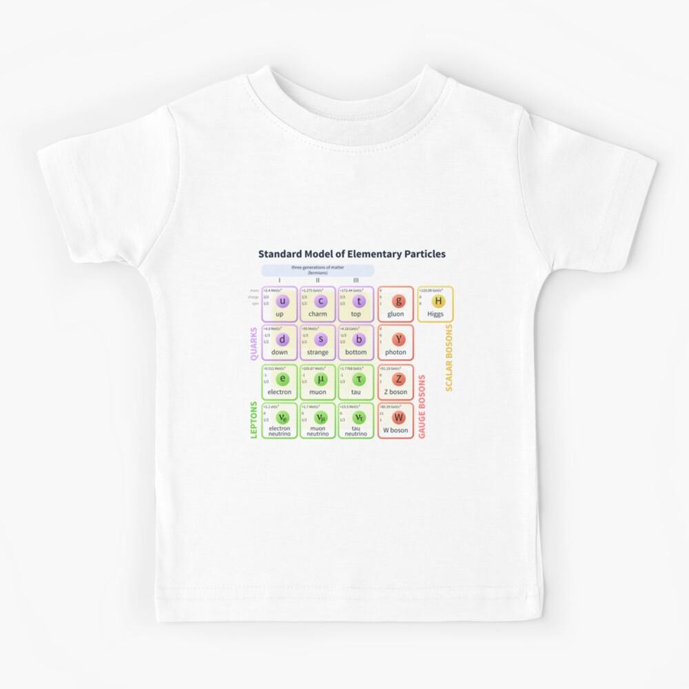 Standard Model Of Elementary Particles  #Quarks #Leptons #GaugeBosons #ScalarBosons Bosons Kids T-Shirt