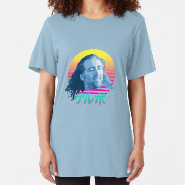 Nicolas Cage ゲルボ! Slim Fit T-Shirt