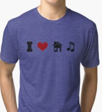 I Heart House Music  Tri-blend T-Shirt