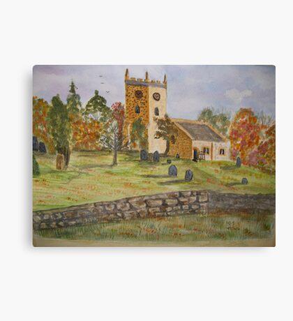 Autumn Churchyard Canvas Print