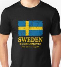 Sweden Flag - Vintage Look T-Shirt