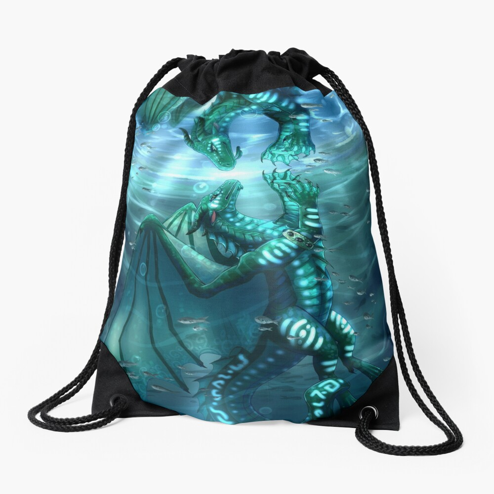 Wings of Fire - Fathom and Turtle Drawstring Bag