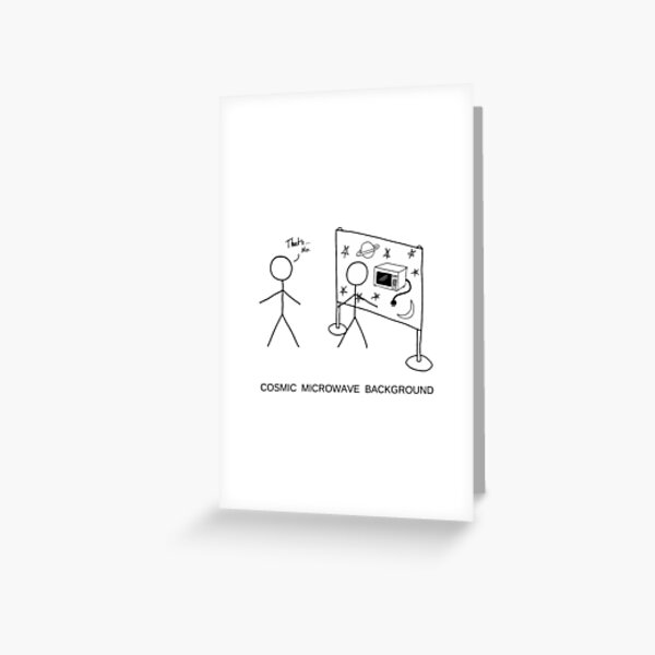 Cosmic Microwave Background Greeting Card