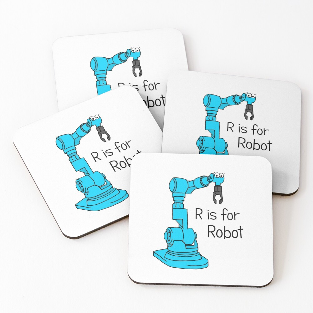 R is for Robot Coasters (Set of 4)