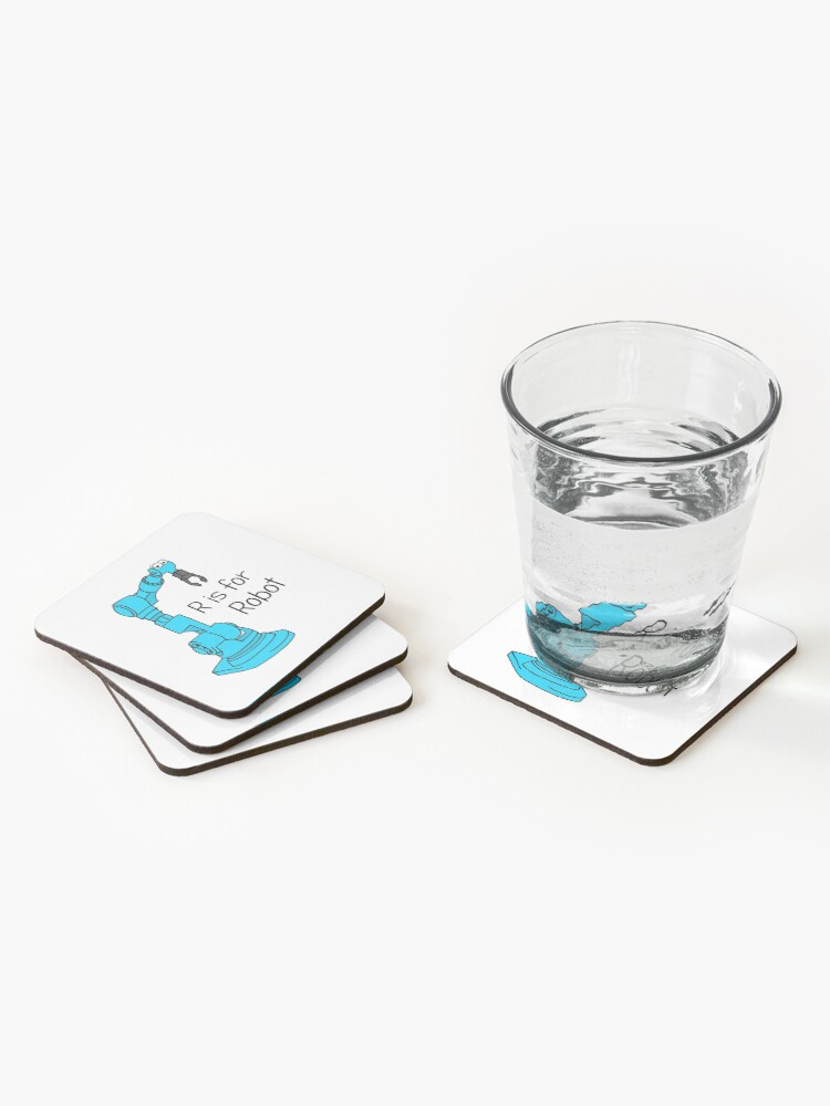 Alternate view of R is for Robot Coasters (Set of 4)
