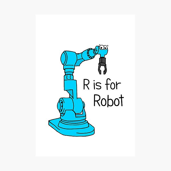 R is for Robot Photographic Print