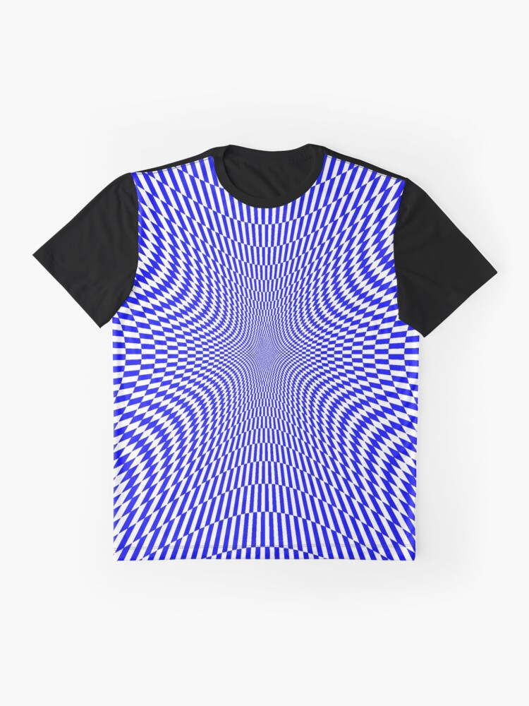 Alternate view of #abstract, #pattern, #texture, #circle, #design, #spiral, #metal, #blue, #wallpaper, #art Graphic T-Shirt