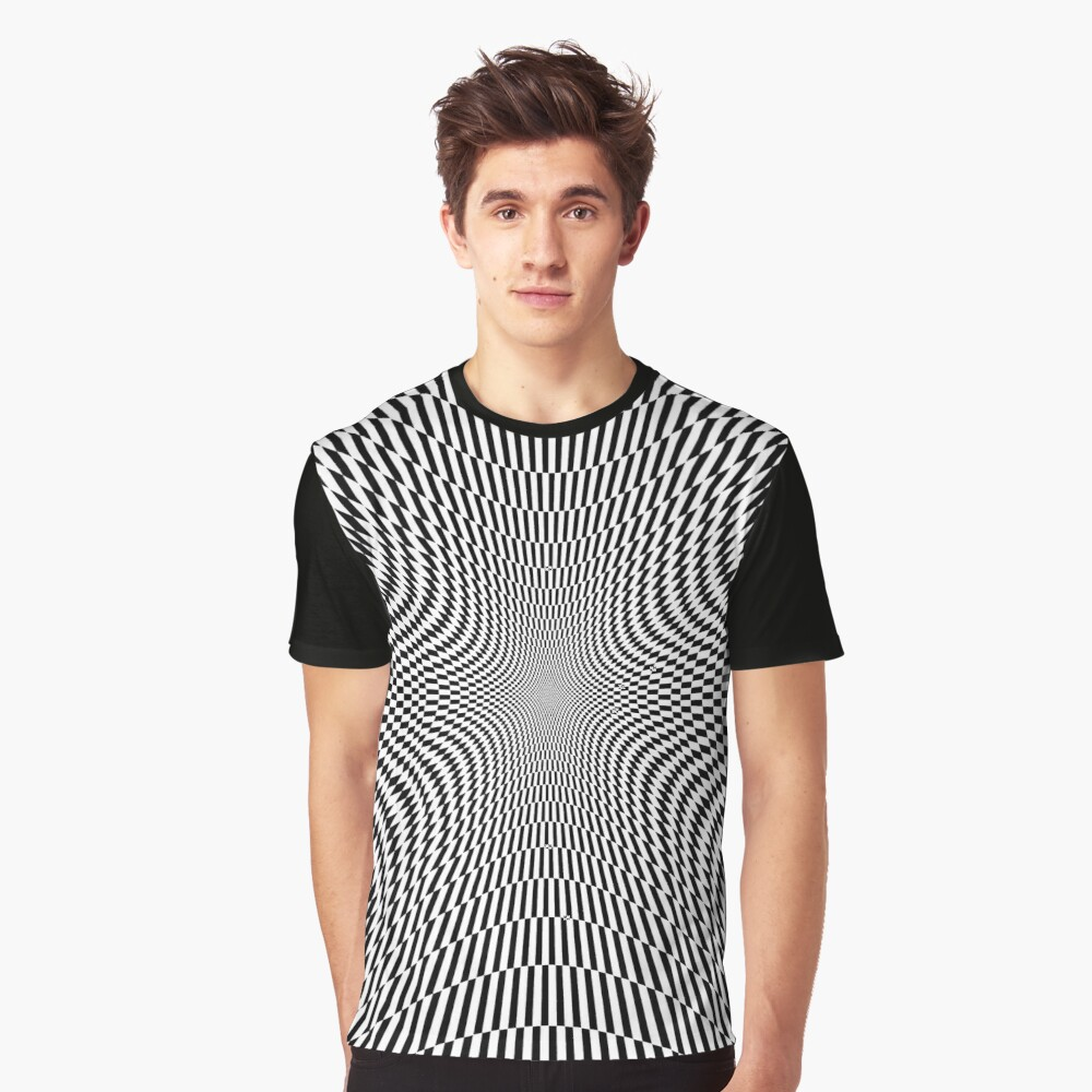 #Abstract, #Pattern, #Texture, #Design, Wallpaper, Art, OpArt, Optical Art Graphic T-Shirt