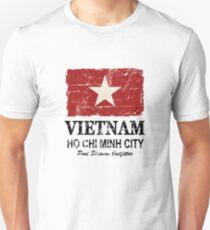 Vietnam Flag - Vintage Look Unisex T-Shirt