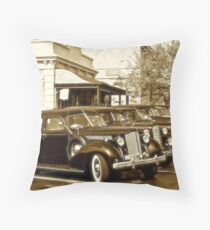 Packards at Griff's Throw Pillow