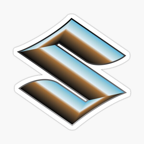 Suzuki Logo Chrome S Sticker