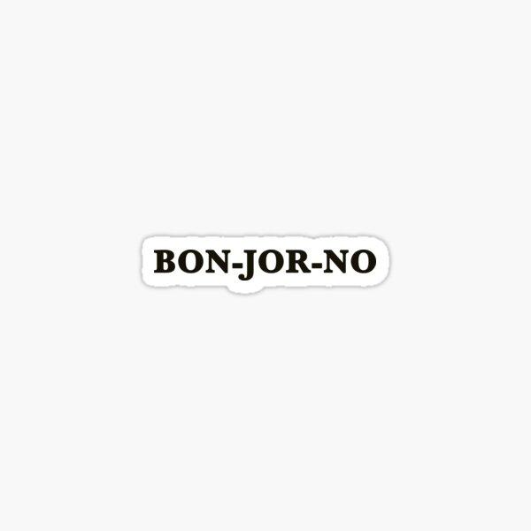 Bonjorno Sticker