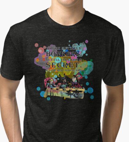 Tea Party - Cita de Bonkers - Alicia en el país de las maravillas Camiseta de tejido mixto