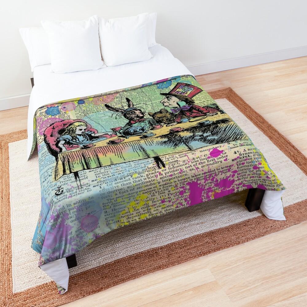 Tea Party Celebration - Alice In Wonderland Comforter