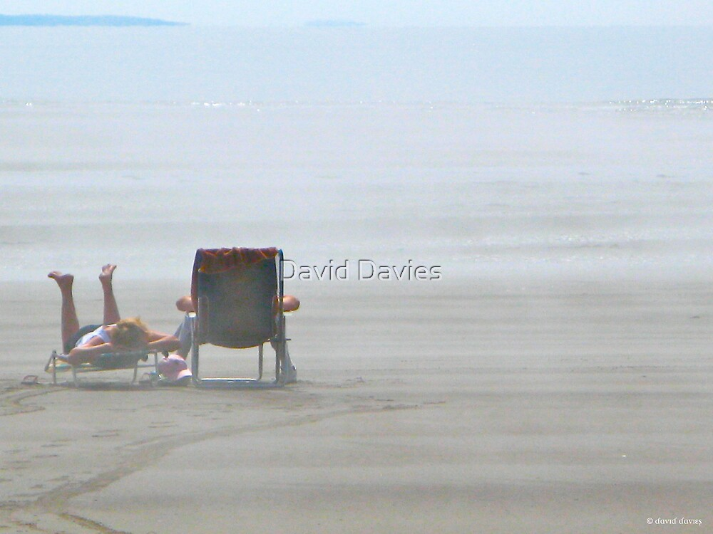 Mavillette Beach - Chilling Out by David Davies
