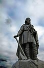 Alfred the Great statue, Wantage, Oxford, UK by David Carton
