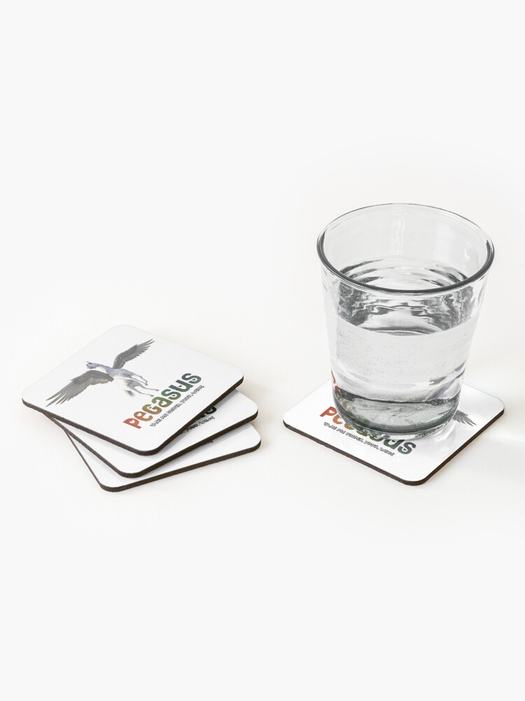 Alternate view of Pegasus - Take me under your wing Coasters (Set of 4)