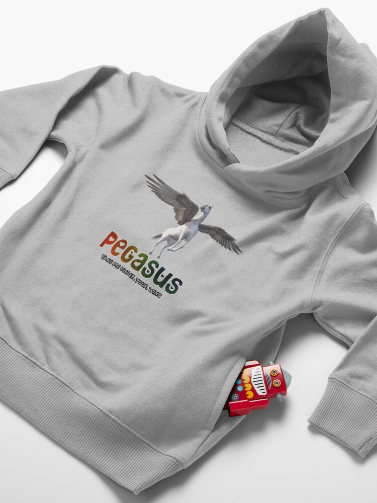 Alternate view of Pegasus - Take me under your wing Toddler Pullover Hoodie