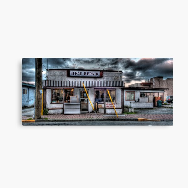 History Preserved: Shoe Repair, Sidney, BC Canvas Print