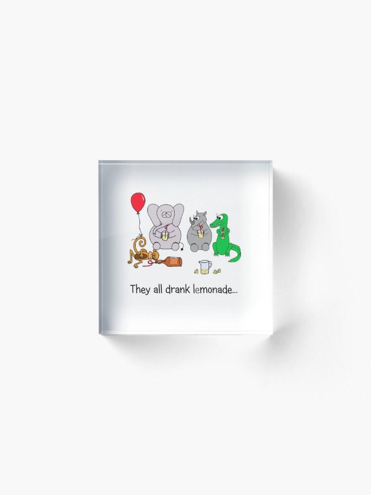 Alternate view of They All Drank Lemonade Acrylic Block