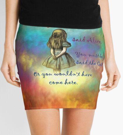 Wonderland Time - Alice In Wonderland Quote Minifalda