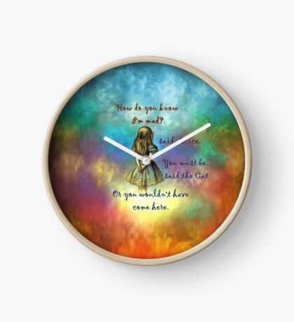 Wonderland Time - Alice In Wonderland Quote Reloj