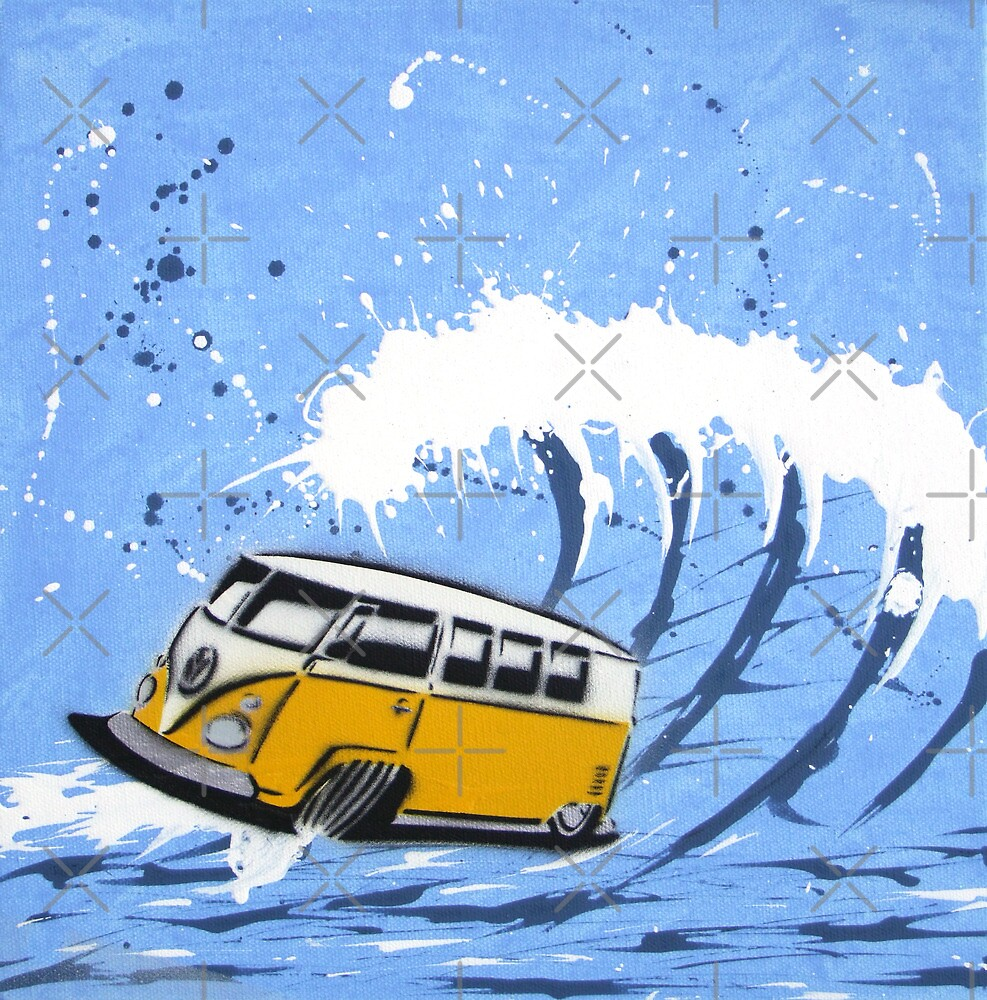 Splitty Wave 02 Painting by yeomanscarart