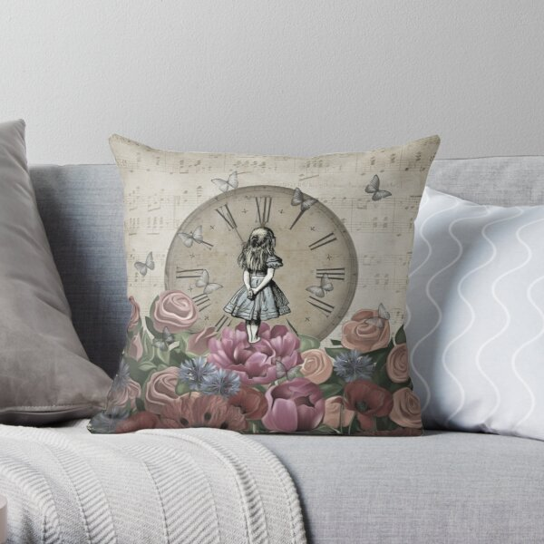 Alice In Wonderland - Wonderland Garden Throw Pillow