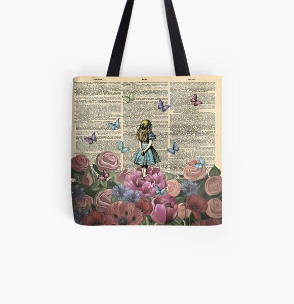 Alice In Wonderland - Wonderland Garden All Over Print Tote Bag