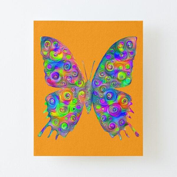 #DeepDream Motley Butterfly Canvas Mounted Print