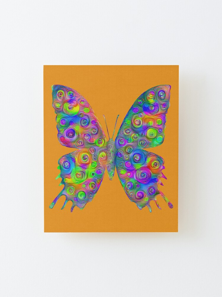 Alternate view of #DeepDream Motley Butterfly Mounted Print