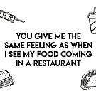 You give me the same feeling as when I see my food coming in a restaurant by fashprints
