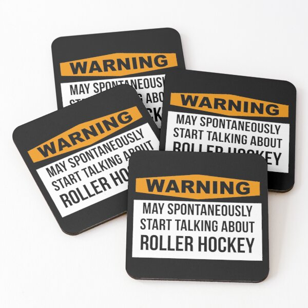 Roller hockey Coasters (Set of 4)