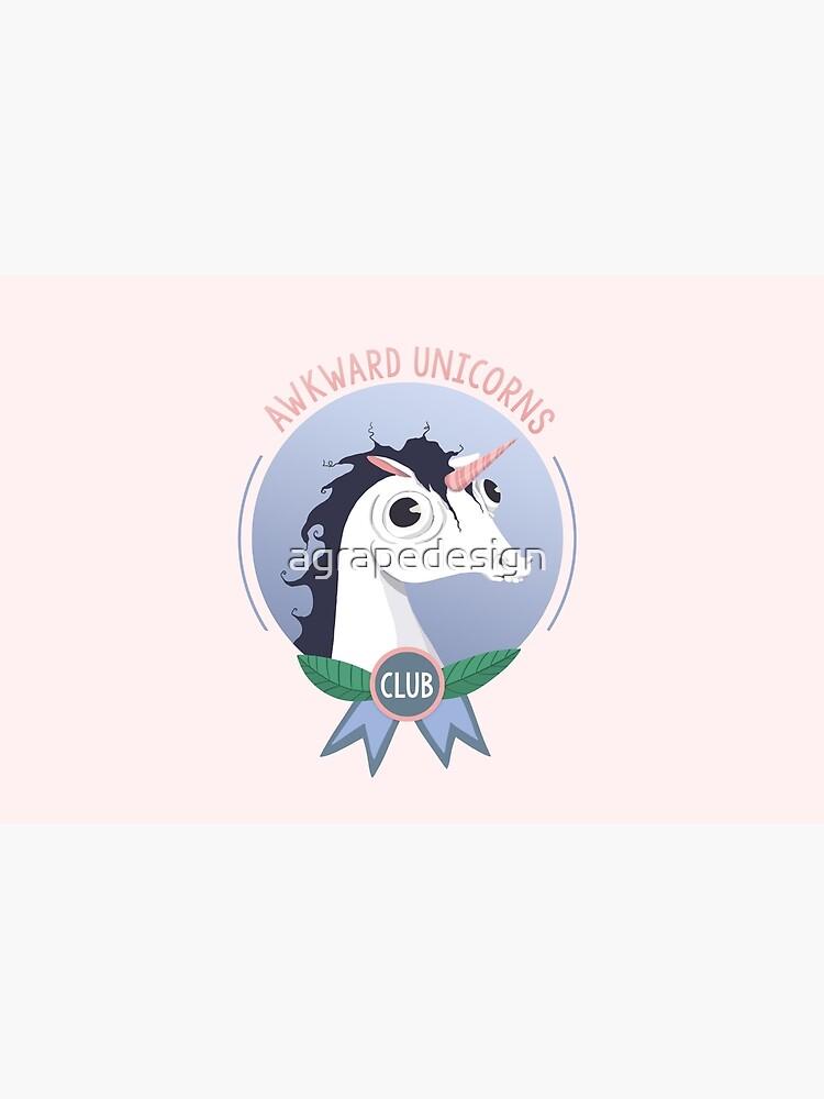 Awkward Unicorns Club by agrapedesign