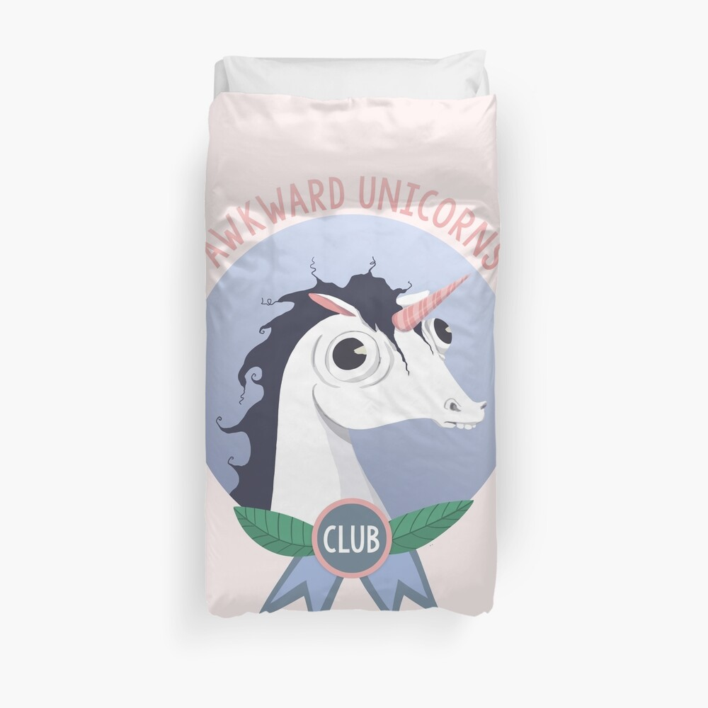 Awkward Unicorns Club Duvet Cover