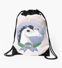 Awkward Unicorns Club Drawstring Bag