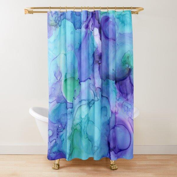 Color Splash Purple Teal Blue Shower Curtain