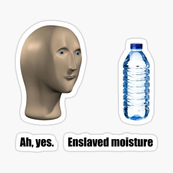 Meme man enslave moisture Sticker