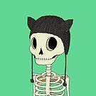 Skeleton Kitty by agrapedesign